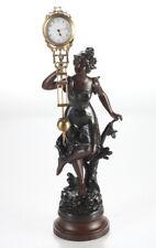 MYSTERIEUSE, Schwingpendel-Uhr / Figuren-Uhr, signiert - ungeklärte Herkunft