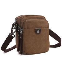 Dasein Mini Vintage Unisex Canvas Men Messenger Bag Crossbody Bag Mini Purse