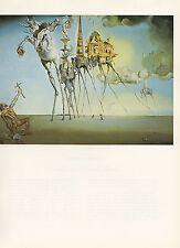 """1976 Vintage SALVADOR DALI """"TEMPTATION OF SAINT ANTHONY"""" COLOR Print Lithograph"""