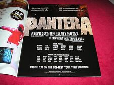 Pantera - 2000 Us Full-Page Color Ad 'Revolution Is My Name' Single Release