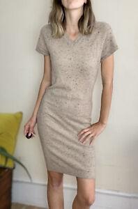Luxurious Jumper Dress By Ballantyne 100% Cashmere IT 42 Uk 8 10 Soft Beige