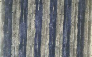 Explorer Flauschvorhang 100x200 Türvorhang Chenille Insektenschutz silber-blau