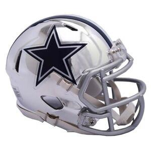 Dallas Cowboys Chrome Speed Mini Helmet New In Box 11848