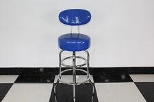 American Diner Retro Style Blue Bar Stool Chair Furniture Kitchen