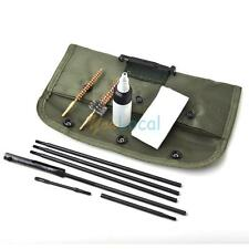 Guns Portable Carbine Rifle Cleaning Kit With Flexible Rod Brushes Pouch Bottle