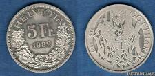 Suisse – 5 Francs 1982 100 ans Chemin de fer du Gotthard – Switzerland Swiss