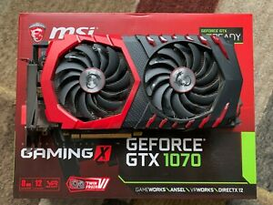 MSI GeForce GTX 1070 8GB Gaming X Graphics Card