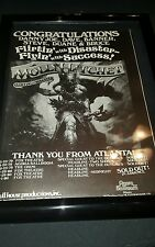 Molly Hatchet Rare Flirtin' With Disaster Atlanta Tour Promo Ad Framed!