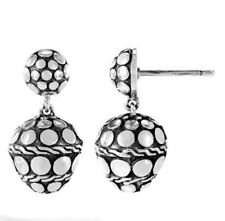 JOHN HARDY Dot Nuansa Sterling Silver Acorn Drop Earrings     NEW