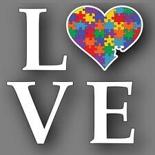 """Autism LOVE 5"""" Heart Decal Sticker Car Truck"""