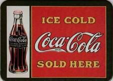 Metalen Kaart/Tin-Card/Blechkarte - Ice cold Coca Cola sold here (029)