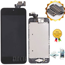 Black iPhone 5 LCD Digitizer Touch Screen+Camera+HomeButton Assembly Replacement