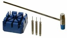 5pc Watch Band Link Remover Set Hammer Band Holder Pin Punches