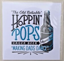 """Father's Day Greeting Card - """"Hopping Pops"""" - Blank Inside For Your Own Message"""