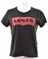 LEVI'S Womens Graphic T-Shirt Top Size 14 Medium Black Cotton  EQ11