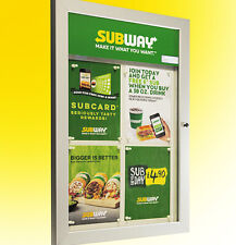 More details for menu display case illuminated led - display 4 x a4 (lockable)