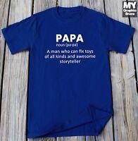Papa T-shirt Fathers Day Gift Grandpa Papa Daddy Dad Shirt Funny Papa Definition