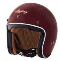 GLOSS RED RETRO OPEN FACE HELMET BY INDIAN MOTORCYCLE D RING size XL