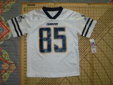 YOUTH LARGE NFL TEAM APPAREL CHARGERS #85 GATES JERSEY - NWT