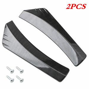 2PCS Glossy Car Plastic Rear Bumper Lip Diffuser Splitter Canard Protector Parts