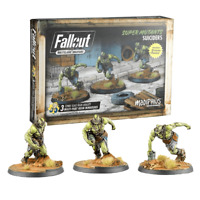 Fallout Wasteland Warfare Miniatures Super Mutants Suiciders Brand New & Sealed