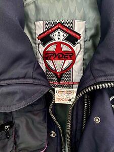 Spyder Sz M Thinsulate Lite Ski Snowboard Mens Jacket Zip Sleeve USA Full Zipper