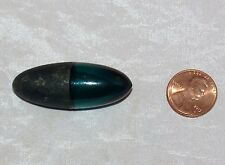ANTIQUE MINIATURE GREEN AQUA GLASS AND METAL SCENT BOTTLE PERFUME OVAL EGG