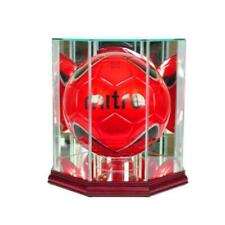 Perfect Cases VLBL-C Octagon Volleyball Display Case Cherry