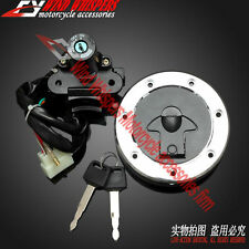 Ignition Switch Gas Cap Cover Key Lock Set Kawasaki ZXR400 91-99/ZZR400 ZZR600