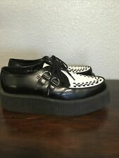 tuk mens viva mondo two tone creepers shoes sz 9