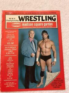1983 WWF WRESTLING PROGRAM MSG SUPERFLY SUNKA RARE BOB BACKLUND CALENDAR JAN 22