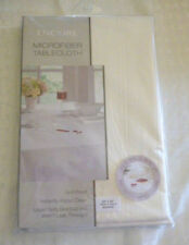 """Ivory Square Tablecloth Microfiber 52"""" New Encore Table"""