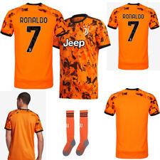 20-21 Ronaldo Football Jersey Soccer Short Sleeve Kits Kids Boys Team Club Suits
