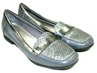 ANNE KLEIN womens slip on size 8 M iflex style gray faux leather great cond.