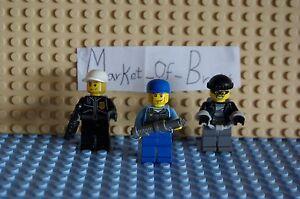 Lego City X3 Policeman x2 & Thief , Collection, starter Holiday Fun! 9/13