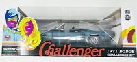 1971 Dodge Challenger R/T Convertible Gray 1:18 Diecast Car By Greenlight 13528