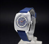 LIMITED OFFER! New Old Stock Ladies BULER 21j Automatic vintage watch NOS Blue