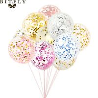 20pcs 12'' Latex Confetti Balloons Helium Birthday Wedding Baby Shower Hen Party