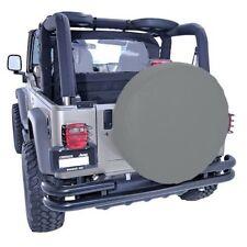 Jeep Cj Yj Tj Jk Spare Tire Cover 27-29 Inch Tire Diameter Gray  X 12801.09