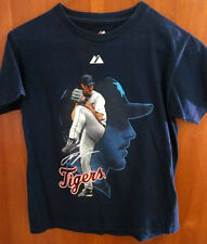 DETROIT TIGERS Justin Verlander small T shirt pitcher tee #35 baseball Majestic