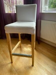 1x modern Ikea Henriksdal kitchen bar stool chair with creamcover