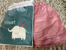 ELEPHANT & CASTLE Queen/King Bedskirt, Pink, NEW