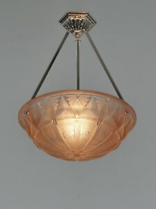 HETTIER VINCENT & MULLER : French art deco pendant ..... 1930 chandelier France