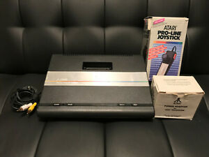 Atari 7800 console with boxed controller, AC adapter, & Composite AV video