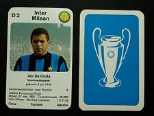 INTER MILAN - JAIR DA COSTA- 1970 Dutch Europa-cup Kwartet game card - scarce