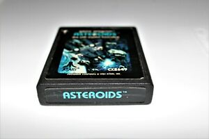 ATARI 2600 ASTEROIDS VIDEO ARCADE GAME CLEANED TESTED  5200 7800