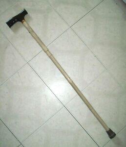 Wood Grain Aluminum Adjustable Folding Cane Walking Stick Collapsible Medical