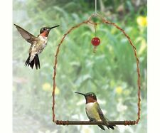 Hummingbird Swing Copper W/ Red Dangling Bead to Attract Birds MADE USA SEHUMS