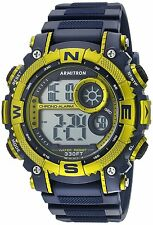 Armitron Men's Navy Blue Resin Watch, 100 Meter WR, Chronograph, 40/8284NVLG