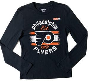 Reebok NHL Philadelphia Flyers Youth Long Sleeve Tee Medium 10 /12